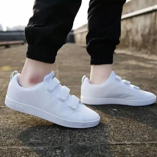 perder diferencia cobre  Jual Sepatu Adidas Neo Advantage Velcro Cleans White List Green Original -  Navy, 37 - Jakarta Selatan - Gayoshoop | Tokopedia