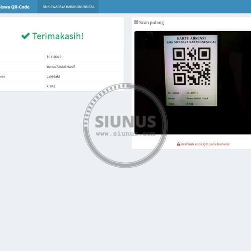 Foto Produk Program Aplikasi Absensi Siswa QR-Code SMS Gateway dari Siunus Online Market