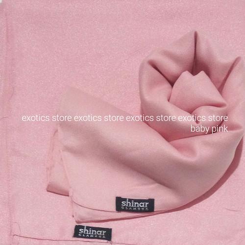 Foto Produk Jilbab Segiempat Shinar Glamour Katun Shimmer Ansania Square Baby Pink dari exotics-store