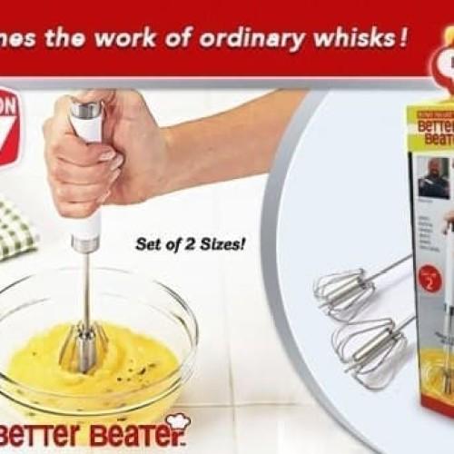 Foto Produk Better Beater Hand Mixer Manual Pengocok Praktis Tanpa Listrik dari evencio shop