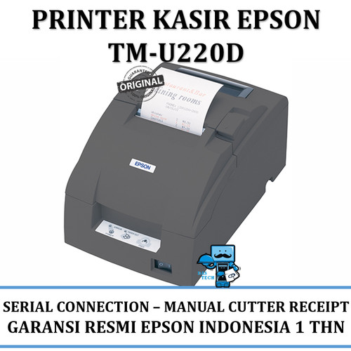 Jual Epson Tm U220 Tm U220d Receipt Printer Serial Connection Manual Cutter Jakarta Pusat Das Livia Computer Tokopedia