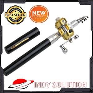 Foto Produk Pancing Pena + Reel Mini Portable Extreme Pen Fishing Rod Length 1M dari indy solution