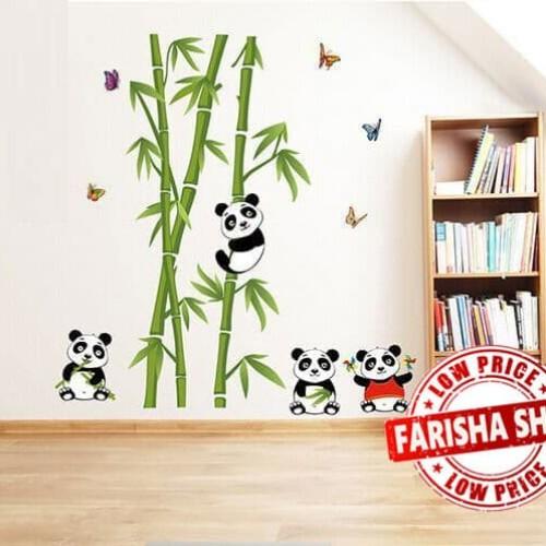 Foto Produk Bamboo Panda II JM7281 - Stiker Dinding / Wall Sticker dari farisha shop