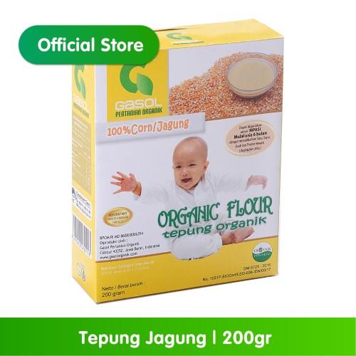 Foto Produk GASOL Organik Tepung Jagung 200Gr / 200 Gr / Makanan Bayi dari Gasol Organik Indonesia