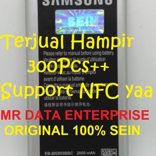 Foto Produk Baterai Batre Baterry Samsung Galaxy S5 Original 100% SEIN EB-BG900BBC - Hitam dari Mr. Data Enterprise