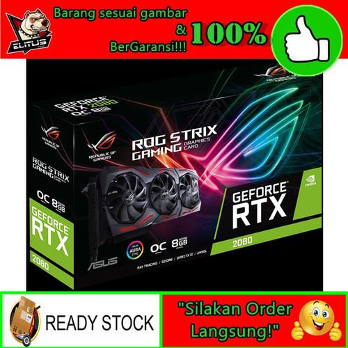 Foto Produk VGA ASUS GeForce RTX 2080 O8G ROG STRIX OC Edition GDDR6 dari ELITUS GAMING