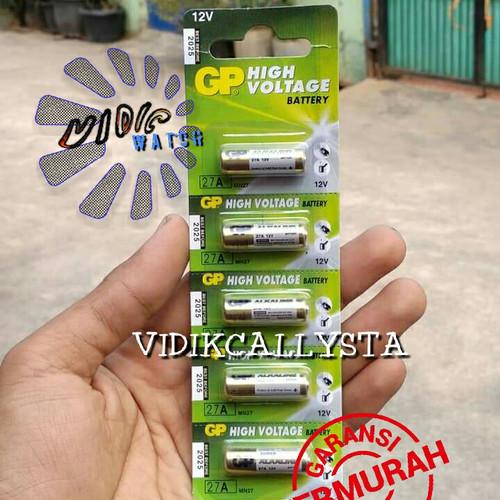 Foto Produk BATREI BATRE BATERAI GP 27 A GP27A GP 27A 12V ORIGINAL ALKALINE dari vidikcallysta