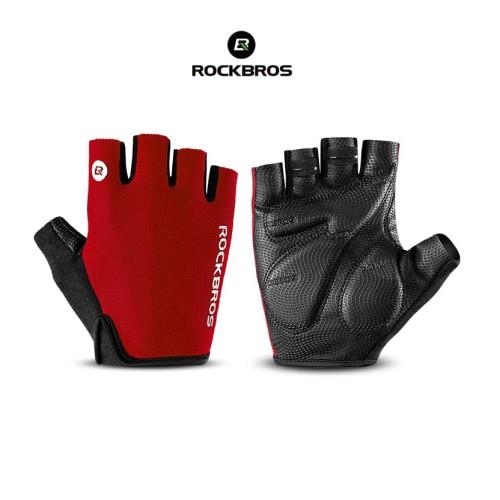 Foto Produk ROCKBROS S106 Bike Glove Half Finger - Sarung Tangan Sepeda RED - XL dari Rockbros Indonesia
