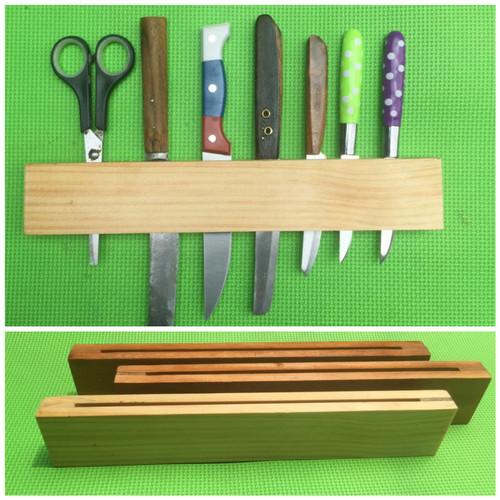 Foto Produk tempat pisau kayu wadah pisau kayu pinus dari kulodereng