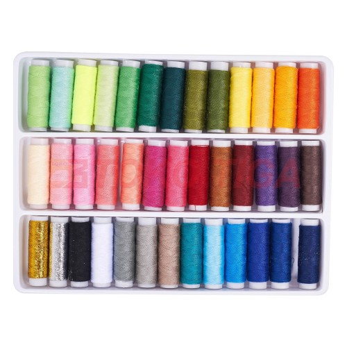 Foto Produk Sewing Thread / Benang Jahit Warna 39 Pcs + Tas dari TOKO TIGA Mesin Jahit