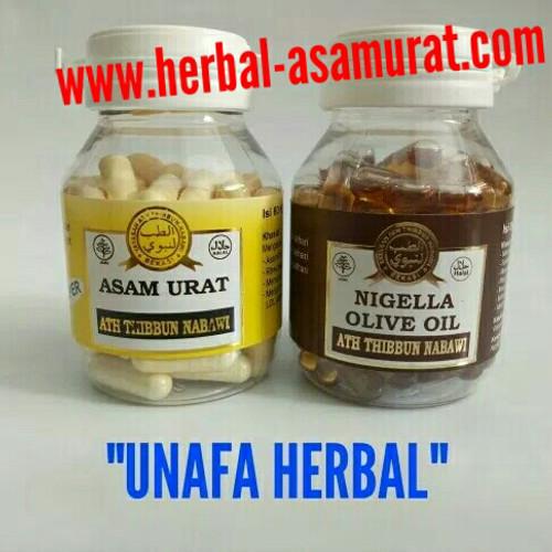 "Foto Produk ASAM URAT SUPER + NIGELLA OLIVE OIL ""Product bt Ath-Thibbun Nabawi"" dari UNAFA HERBAL"