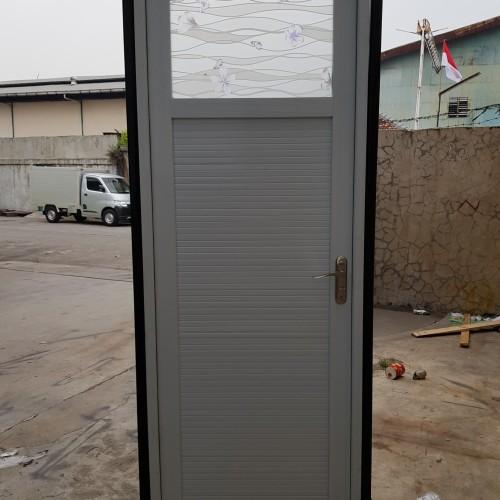 Jual pintu kamar mandi aluminium 70cm x2M putih handle ...