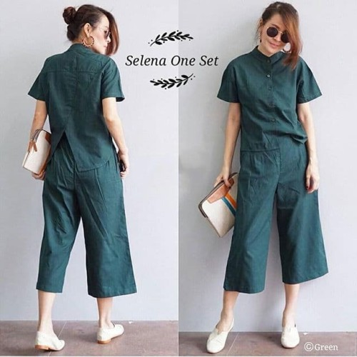 Foto Produk 925 Selena One Set Dark Green dari fashion_tnabang