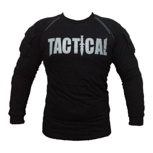 Foto Produk kaos tactical lengan panjang hitam dari bandung military