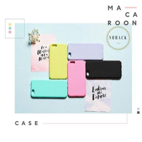 Foto Produk Macaroon case ip iphone 5 5S SE 6 6s 6+ 6S+ 7 7+ 8 8 + plus polos soft dari Caseayangan ID