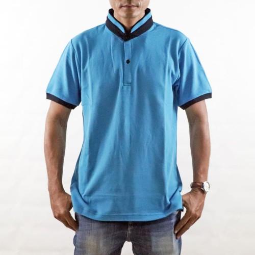 Jual Montes Koko Collar Polo Shirt Biru Turquoise Turquoise S Tegalsari Montes Tokopedia