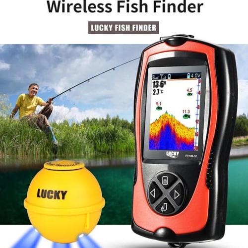 Foto Produk Wireless Fish Finder LUCKY Color Camera Pelacak Ikan Kamera Warna dari HRDIK