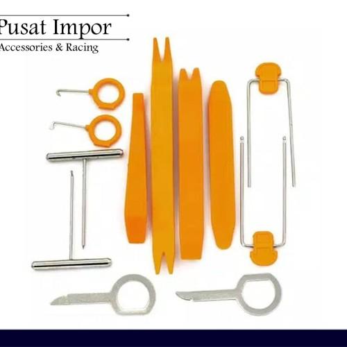 Foto Produk Alat Pembuka Panel Audio Mobil Door Clip Trim Removal Tool ISI 12PCS dari Pusat Impor