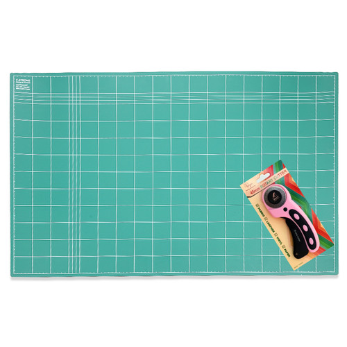 Foto Produk [Paket Hemat] Cutting Mat A1 (2 sisi) + Rotary Cutter Freya + Refill dari Service Jaya Supply