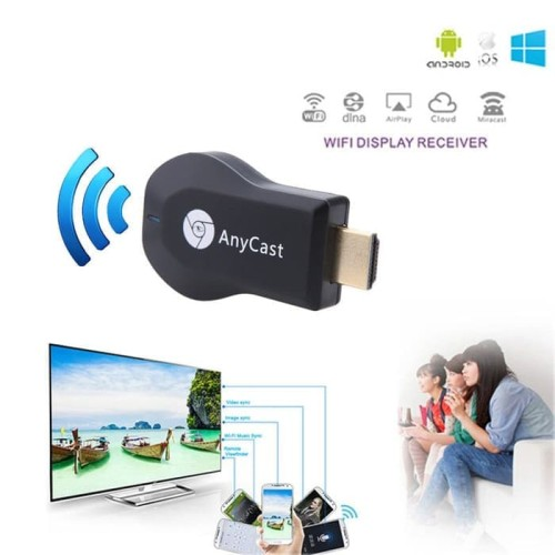 Foto Produk Anycast Dongle HDMI Wireless Wifi / M2 Plus / M4 / Miracast / Ezcast dari Cikuleta