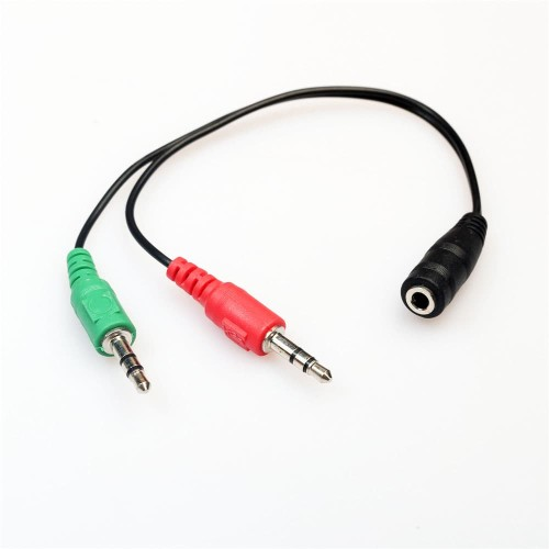 Foto Produk Kabel Splitter AUX Audio Mic 3.5mm Female to 2 Male Converter dari JEQA Komputer