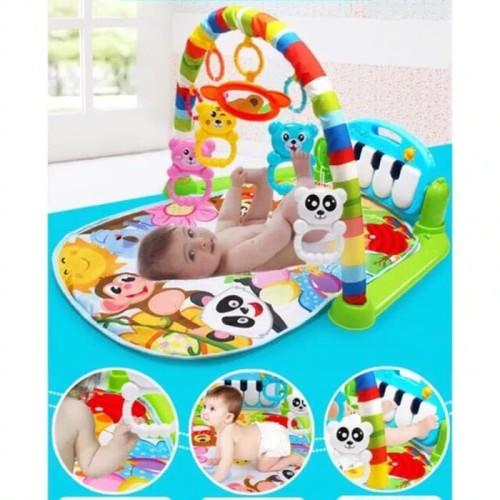 Foto Produk Kasur Bayi mainan gantung n piano/baby musical playgim piano n playmat - Hijau dari AUTO KID II