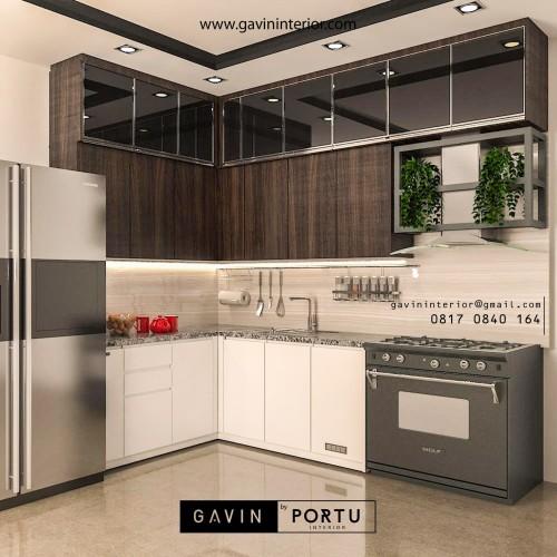 Jual Design 3d Kitchen Set Minimalis Modern Terbaru Jakarta Selatan Gavin Furniture Tokopedia