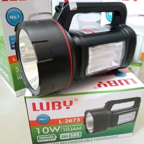 Foto Produk Senter cas LUBY L2673 senter besar 2in1 LED RECHARGEABLE HANDLIGHT dari LOYLOY