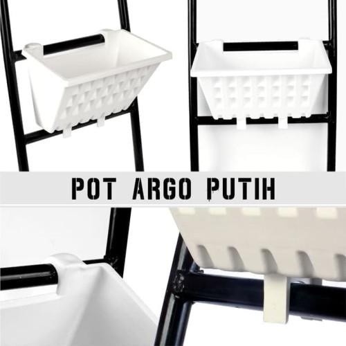 Foto Produk Pot Tanaman Tempel Argo 01 Putih dari Tani Nusantara Kediri
