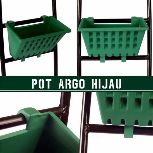 Foto Produk Pot Tanaman Tempel Argo 01 Hijau dari Tani Nusantara Kediri