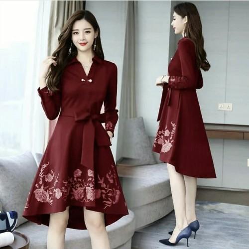 Foto Produk NEW DRES VIKAMI MARON [Dress 0107] SAV dari Super Model