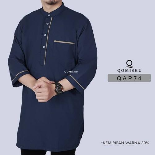 Foto Produk BIG SIZE Baju Koko Pakistan / Kurta Lengan 3/4 Gamis Pria XXL QAP 74 dari Gerai Ammar