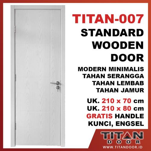 Jual Pintu Rumah Modern Minimalis Pintu Kayu Modern Murah Titan 007 Penjaringan Titan Life Tokopedia
