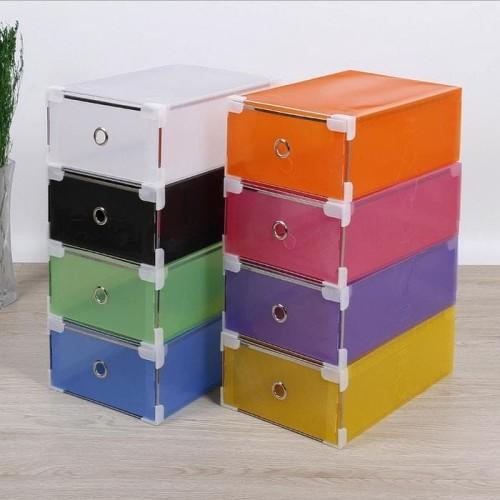 Foto Produk Kotak sepatu transparant slide dengan ring kualitas bagus dari supplier beauty