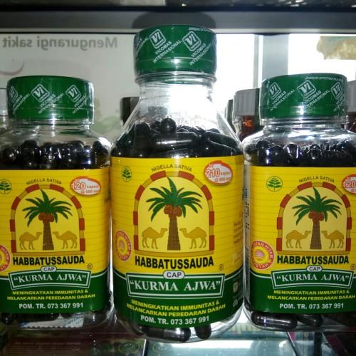 Foto Produk habbatussauda Kurma Ajwa 210 kapsul dari harga grosir 01