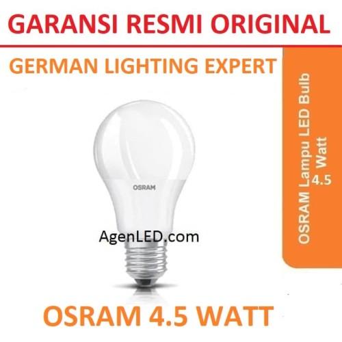 Foto Produk OSRAM Lampu LED Bohlam 4.5 Watt 4 W Putih 4,5 Bulb 4W 5 dari AgenLED