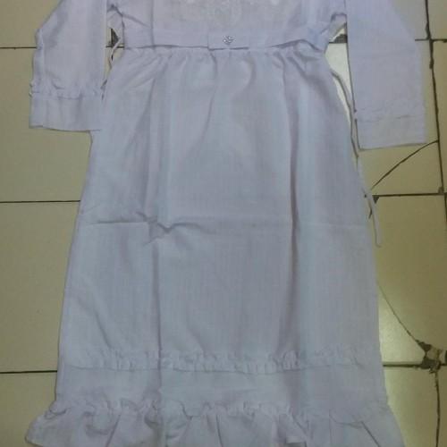 Foto Produk Baju Gamis Putih Umur 12-14 Tahun dari Franziska