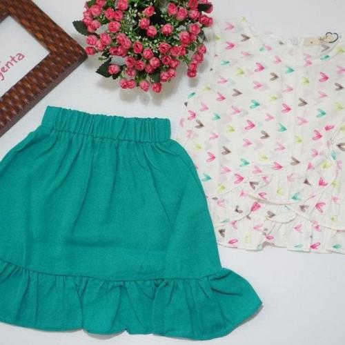 Foto Produk Setelan Baju Anak Perempuan Cute Skirt Color dari Franziska
