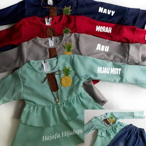 Foto Produk Baju Anak Perempuan Setelan Set Denim 2-6 Tahun dari Franziska