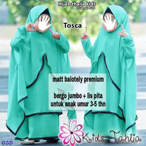 Foto Produk Baju Musllim Anak Cewek-Gamis Polos Anak-Maxi Dress Muslim Anak dari Franziska