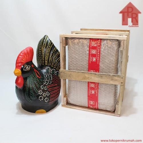 Foto Produk Celengan ayam jago tradisional dot painting - M + Krat kayu dari Toko Pernik Rumah