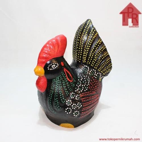 Foto Produk Celengan ayam jago tradisional dot painting - M dari Toko Pernik Rumah