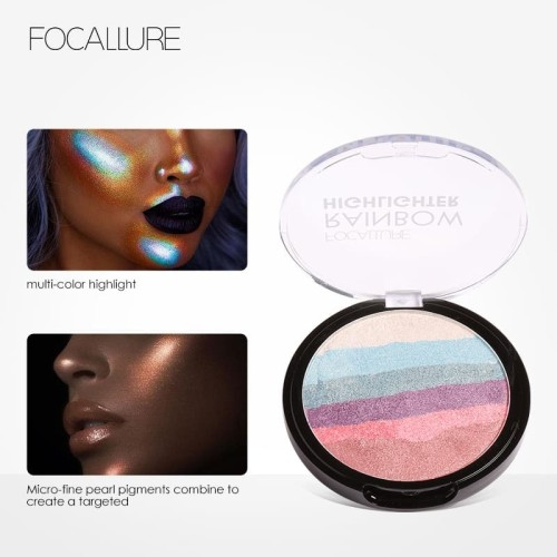 FOCALLURE RAINBOW HIGHLIGHTER Face contour women professional FA35 - FA35-01 3