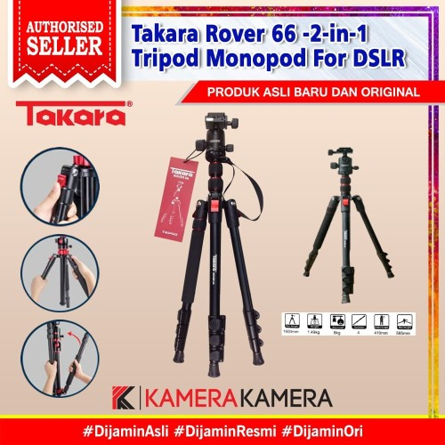 Foto Produk Takara Rover 66 -2-in-1 Tripod Monopod For DSLR dari kamerakamera