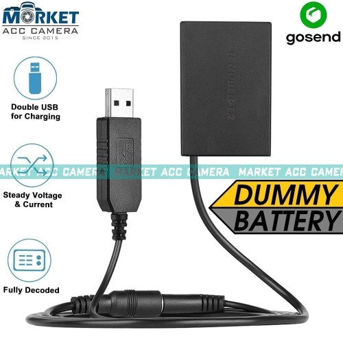 Foto Produk Battery Dummy LP-E12 USB for Canon (EOS M M10 M50 M100 M2 100D X7) dari Market ACC Camera