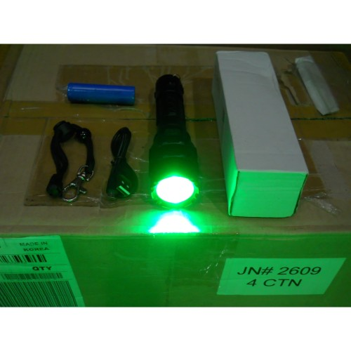 Foto Produk SENTER LED HIJAU GREEN FLASHLIGHT NIGHT HUNTING BERBURU MALAM USB Port dari DO OFFICIAL STORE
