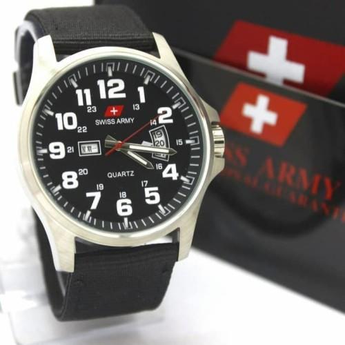 Foto Produk Swiss Army Analog Jam Tangan Pria Silver Hitam DA954G Original dari Ogyta Shop