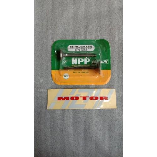 Foto Produk Klep Batang Klep Payung Klep Valve In Dan Out C70 Merk Npp dari HOY MOTOR