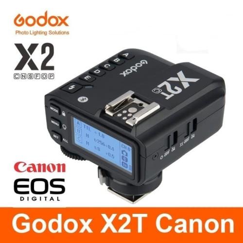 Foto Produk TRIGGER GODOX X2T TTL FOR CANON WIRELLESS TRANSMITTER X2T HSS TTL - Hitam dari salsa bercamera