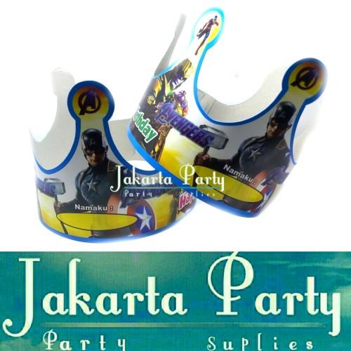 Foto Produk Topi Ultah Mahkota Avengers / Topi Ultah Avengers / Topi Ulang Tahun dari Jakarta Party